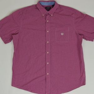Chaps Big & Tall 2XLT Pink   Button Down Cotton So
